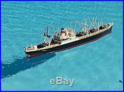 50 American Scout Rc Model Boat, All Wood, Nos Dumas 12vt, Motor & Gear Futaba
