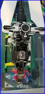 ALIGN T-REX 600 NITRO DFC RTF, OS 55 Hyper Powerboost pipe, Futaba receiver