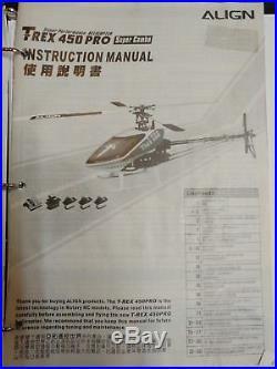 Align T-Rex 450 Pro Helicopter RTF with Spektrum DX7, Futaba 401 gyro