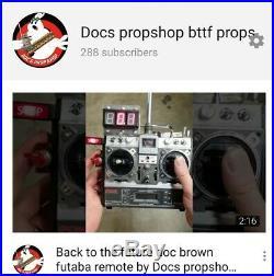 Back to The Future Futaba T8SGA Doc Brown Remote RC prop Delorean time machine