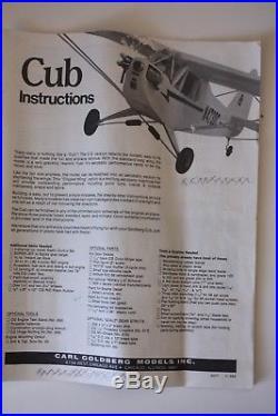 Carl Goldberg Piper Cub Anniversary Edition Futaba Radio Transmitter Rc Airplane