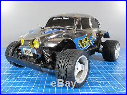 Chrome Metallic Edition Tamiya 1/10 RC Stadium Blitzer VW Beetle Futaba Servo