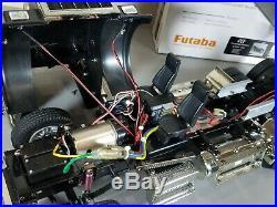 Custom Built Tamiya 1/14 RC King Hauler Black Edition Dump Tipper Bed 2.4 Futaba