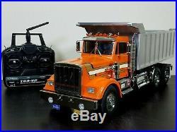 Custom Built Tamiya 1/14 RC King Hauler Semi Dump Tipper Bed Truck Futaba ESC