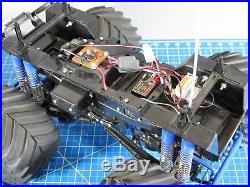 Custom Built Tamiya RC 1/10 Super Clodbuster ESC Futaba + add-on aluminum parts
