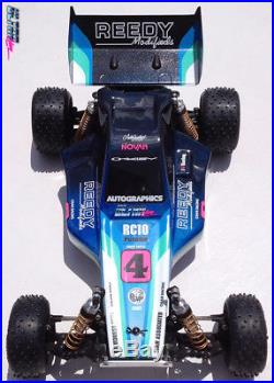 Custom Painted Stickered RC10 Worlds Body Associated Vintage RC Novak Futaba