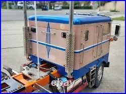 Custom Tamiya 1/14 R/C Globeliner Truck Futaba Transmitter Brushless Motor ESC