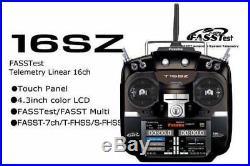 DHL New FUTABA 16SZ MODE 2 RADIO FASST RC TRANSMITTER + R7008SB Receiver x 1