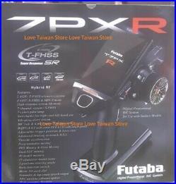 DHL New Futaba 7PXR 2.4GHz T-FHSS7-Ch SR Radio System with R334SBS-E x 2