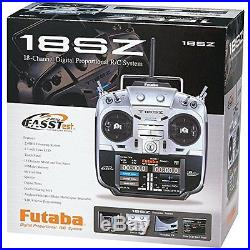 FUTABA 18SZA 18SZ 18 CHANNEL RC AIRPLANE RADIO SYSTEM With R7008SB & FREE TX CASE
