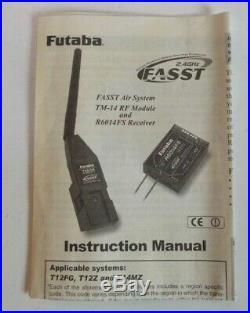 FUTABA T12fg 12 CHANNEL TRANSMITTER GOOD CONDITION MODE 2+FASST MODULE+MANUAL
