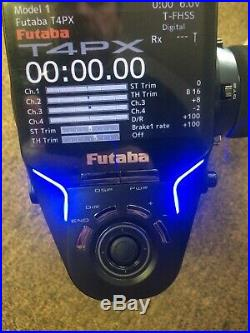 FUTABA T4PX Digital 2.4 GHz RC Transmitter & 2 R304SB Receivers Case And More
