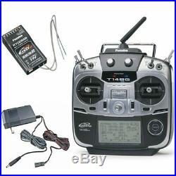 Futaba 14SGA 2.4GHz 14-Channel R/C Transmitter (FUTK9410) with R7008SB Receiver