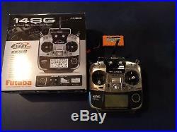Futaba 14SG 14-Ch 2.4GHz Radio Mode 2 with extra Futaba HT51800B Battery