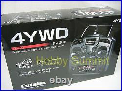 Futaba 2 4GHz 4-Channel ATTACK 4YWD re 1/15 1/16 R/C Tank DMD Full Opt MF Unit