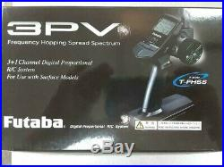 Futaba 3PV 3-Channel 2.4GHz S-FHSS Radio System with R203GF Receiver Brand New