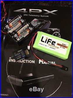 Futaba 4PX 4-Channel 2.4GHz T-FHSS Radio R304sb receiver, New Life Battery, Case