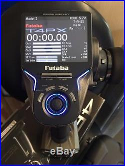 Futaba 4PX T-FHSS 2.4GHz Radio Transmitter system with 4 receivers and case