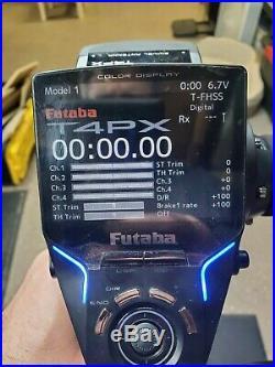 Futaba 4PX transmitter, receiver, case and temp sensor