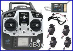 Futaba 6JA 6-Ch 2.4GHz S-FHSS Radio with R2006GS Receiver 4x S3004 Servos FUTK6001