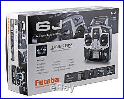 Futaba 6J Computerized 2.4ghz FHSS SFHSS S-FHSS with R2006GS Receiver FUTK6000