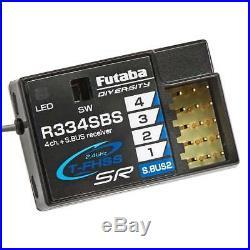 Futaba 7PXR 7 PXR PX 7-Channel 2.4GHz T-FHSS Telemetry Radio System R334SBS