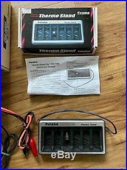 Futaba CDR-5000 Battery Charger Inc Thermo Stand Vintage & Rare Tamiya Kyosho