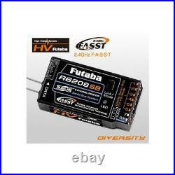 Futaba R6208SB 8-Ch 2.4GHz FASST Hi-Voltage Rx Receiver 8FG / 10C / 18MZ / 18S