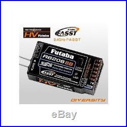 Futaba R6208SB 8-Channel 2.4GHz FASST Hi-Voltage Rx Receiver FUTL7668