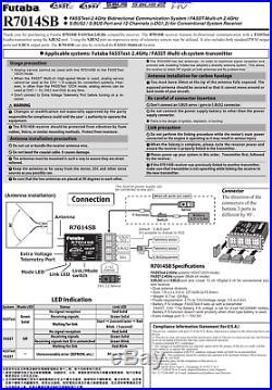Futaba R7014SB 2.4GHz FASST FASSTest Full-range Receiver RX 14SG 18MZ FUTL7648