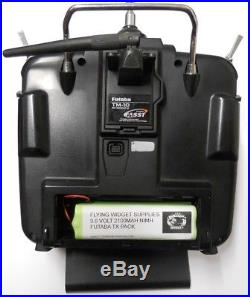 Futaba T10cp 2.4ghz Fasst 10 Channel Transmitter Good Condition +new Battery