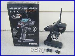 Futaba T4PKS 4PK Super 2.4G FASST Transmitter & Two Futaba Receivers Losi HPI