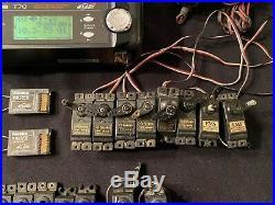 Futaba T7c Fasst 2.4 Transmitter, (2) R617fs Receivers, (8) Fps48 Servos Lot