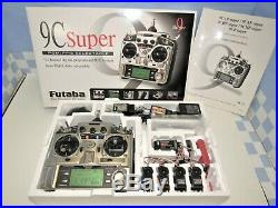 Futaba T 9CAP Super 9CH Radio With4 S3151 Digital Servos, 3 Receivers, Charger, &