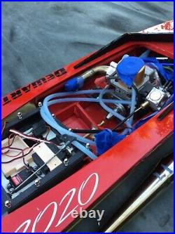 Gas radio control boat vintage not tested 30 cc Zenoah Powered ZippKits rc