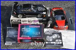 HPI Nitro RS4 2 4wd car, RE15 with BMW race & Porsche show body Futaba control