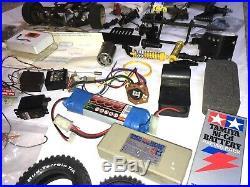 Huge Job Lot 1 RC Car Spares Repairs Vintage Tamiya Futaba Ripmax Radio Control