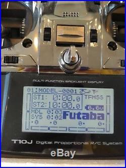 L NIB FUTABA 10J TRANSMITTER BUNDLE T-FHSS R300SB PLUS 2x R2008SB RECEIVERS