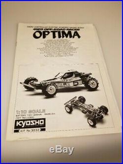 Mid-80's Kyosho Optima Chain Drive R/C 3032 4wd Vintage with Futaba Control