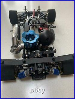 Mugen Seiki MTX4R Convert Engine Car w / Spare Parts And Futaba Transmitter Set