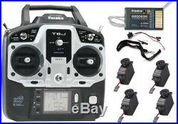 NEW Futaba 6JA 6-Ch 2.4GHz S-FHSS Radio withR2006GS Receiver 4x S3004 Servos