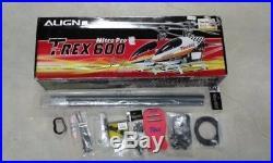 New Align T-Rex 600 Pro Nitro Helicopter Futaba GY520 O. S. 50 Max SX Engine