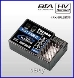 New Futaba 4PV (4-Ch) 2.4GHz S-FHSS/T-FHSS Radio System withR314SB-E Receiver x 1