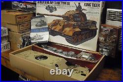 New Tamiya 1/16 King Tiger Radio Controlled Tank With 4ch Futaba