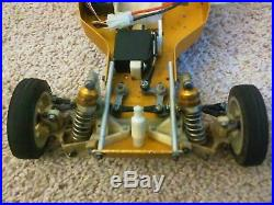 RC VINTAGE RC10 GOLD PAN A STAMP BUGGY TEAM ASSOCIATED with Futaba radio