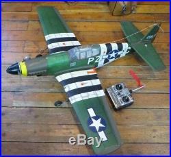 R. C. PLANE P-51 MUSTANG ARMY with 2 STROKE ENGINE & FUTABA FP-T2UAF CONTROLLER