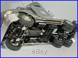 Rare Chrome Metallic Special Edition Tamiya RC 1/14 Semi Ford Aeromax Futaba