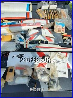Rc plane lot, HUGE! F4u crosshair, hirobo professor, pdq cessna 182, many parts
