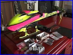 SAB Goblin 500 Airframe with upgrades raptor gaui mikado jr futaba spektrum
