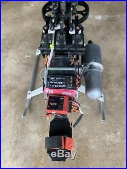Synergy N9 RC Helicopter Nitro Ikon FBL JR Servos BNF Futaba 2.4